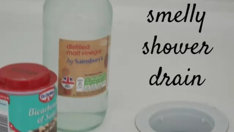 Clean a smelly shower drain au naturel Bubbablue and me