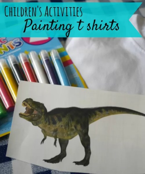 Painting T shirts with a decorating kit bubbablue and me