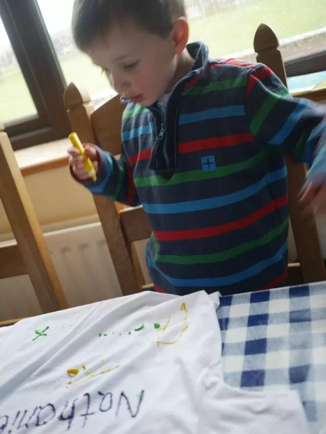 finalising his painting design