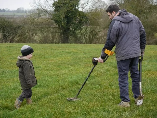 metal detecting on the farm