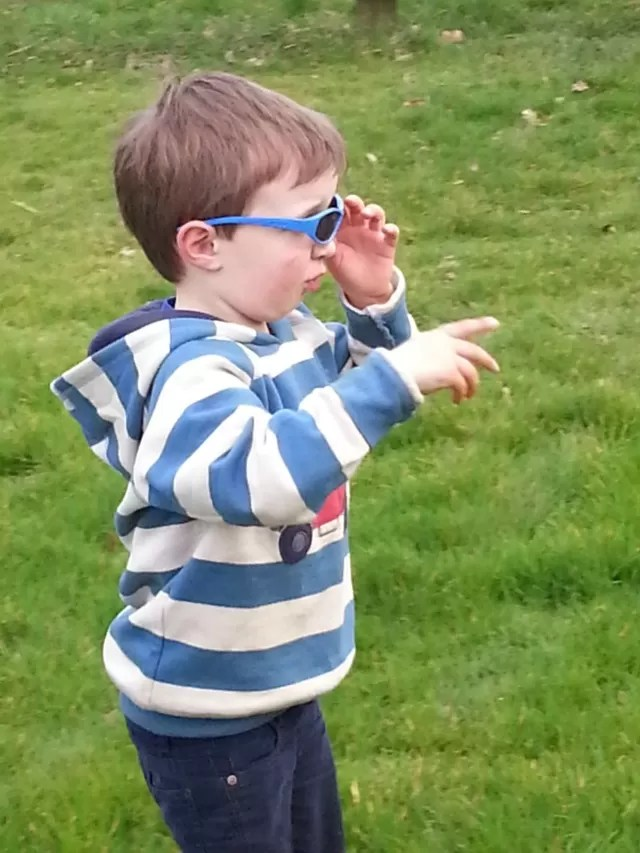 Mr cool dude shades and Frugi jumper