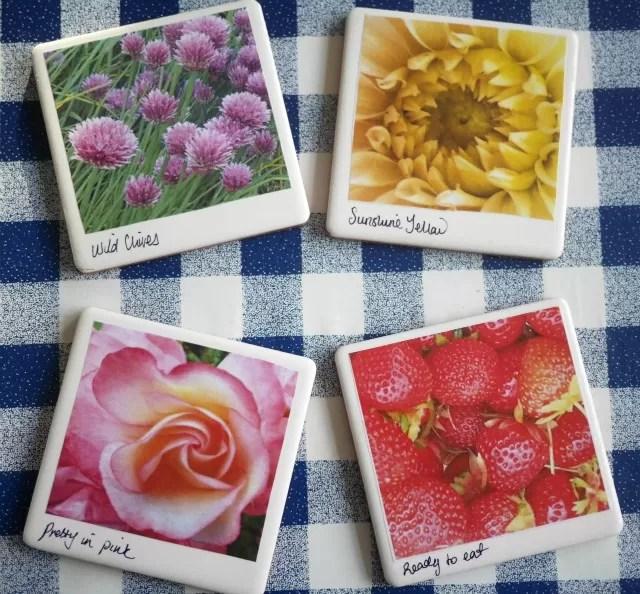 4 homemade photo tiles
