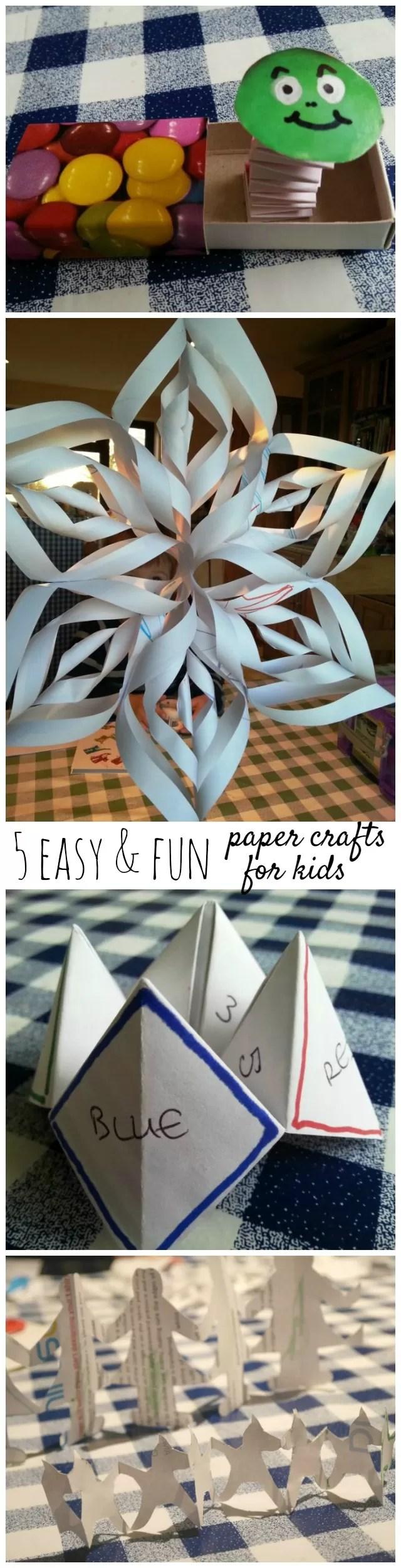 5 fun paper crafts for children