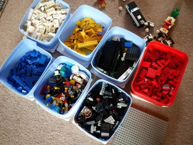 inherited organised lego