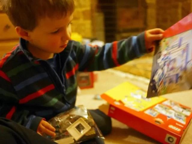 opening the Lego box
