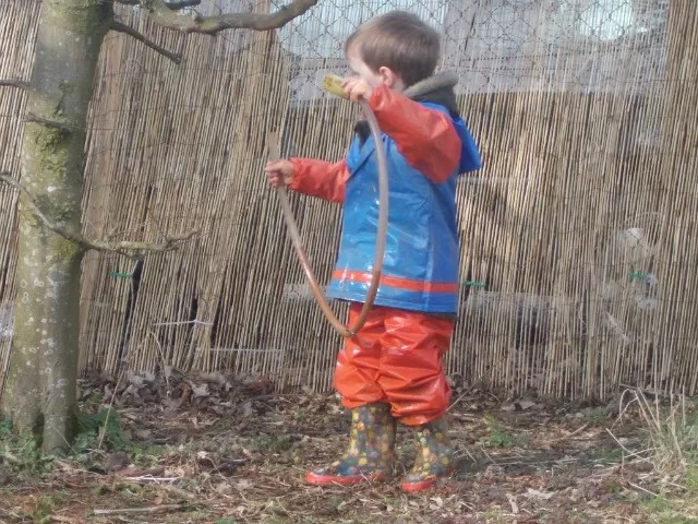 water tubing in the nursery garden