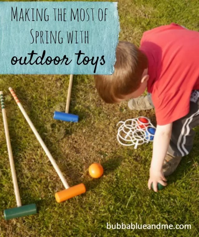 Playing croquet - outdoor toys