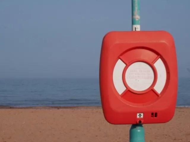 coastguard details at Goodrington Beach