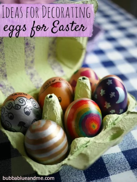 ideas for decorating easter eggs with Sharpies - Bubbablueandme