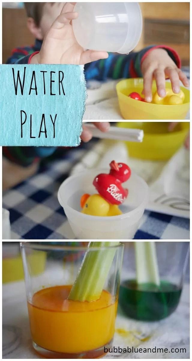 Easy water activities for children - Bubbablueandme