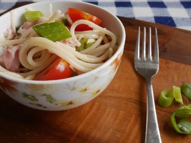 mediterranean tricolore spaghetti