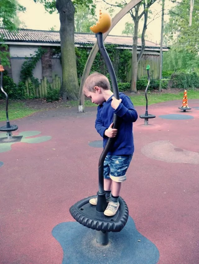 playing at the playground in Stratford-upon-Avon