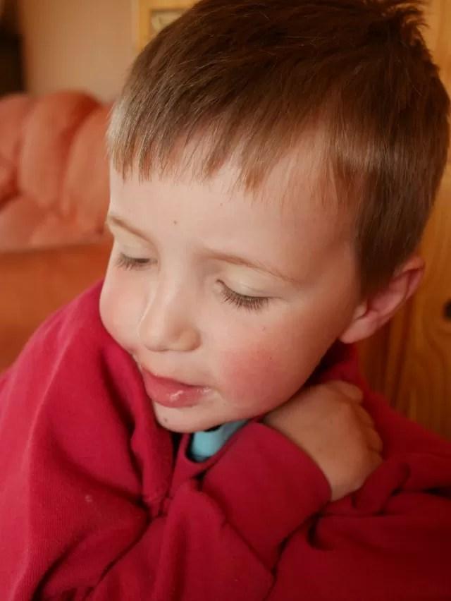 tired little boy