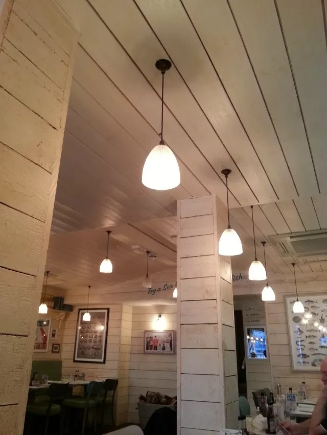Rockfish restaurant Torquay decor