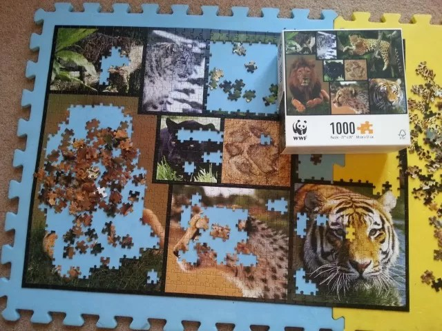 WWF 1000 piece big cat jigsaw