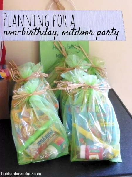planning for a non birthday outdoor party