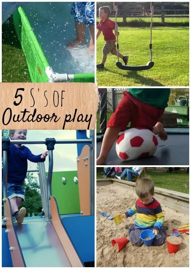 5 S's of outdoor play for children - Bubbablueandme