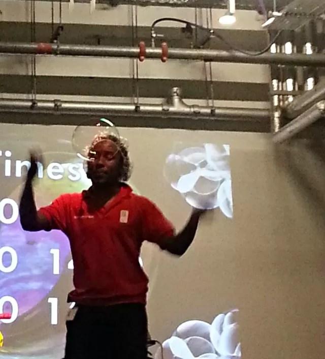 Dwayne's bubble show