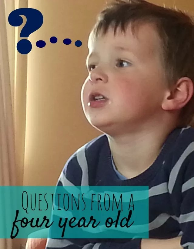 Questions from a 4 year old - Bubbablue and me