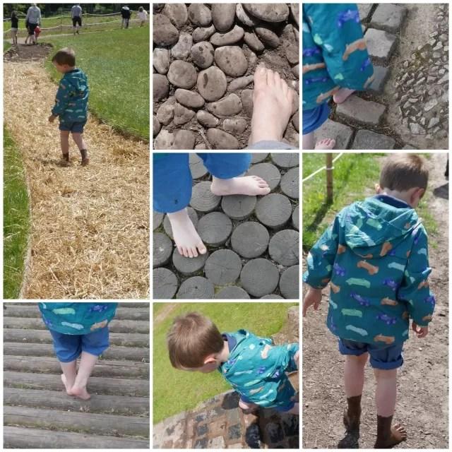 barefoot walk at Trentham Gardens