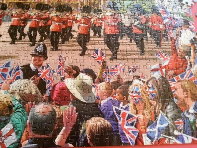 close up of Trooping the colour jigsaw puzzle