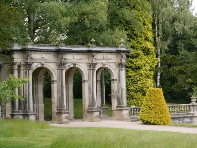 columns at Trentham Gardens