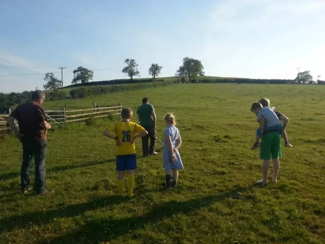 cousins out metal detecting on the farm