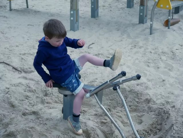 driving the sand digger