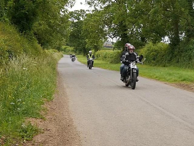 Annual vintage motorcycle rally Banbury run
