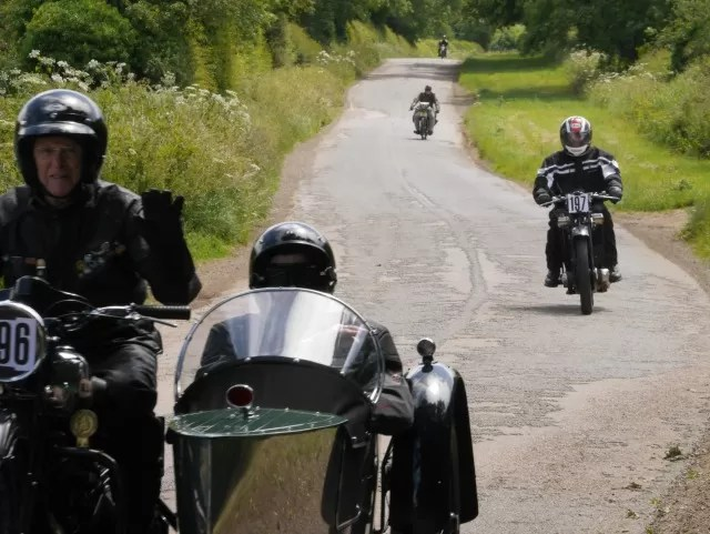 Banbury run annual vintage motorcycle  rally