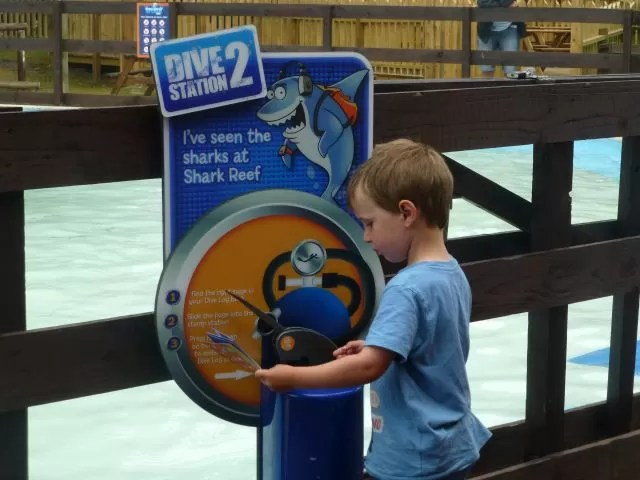 Dive station 2 stamp challenge at Sealife Centre Weymouth