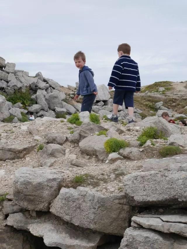 Exploring the rocks at Portland
