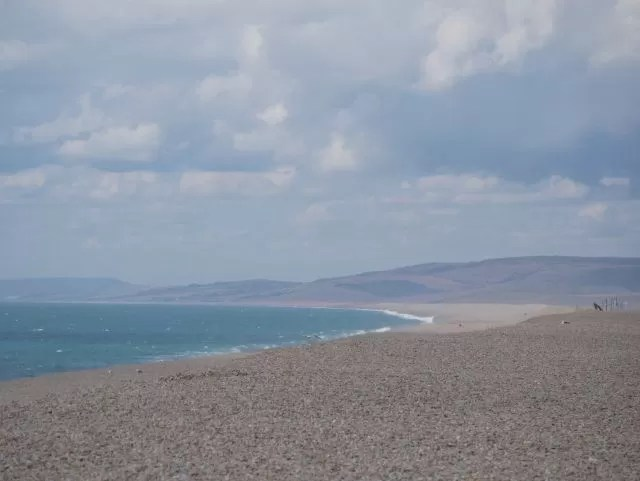 The view over Chesil Beach