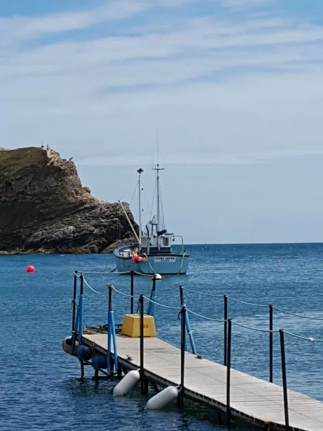 jetty at Lulworth Cove
