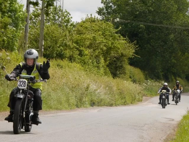 motorcycle rally entrants