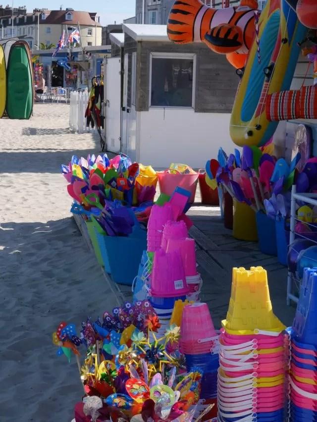 Beach side stall at Weymouth