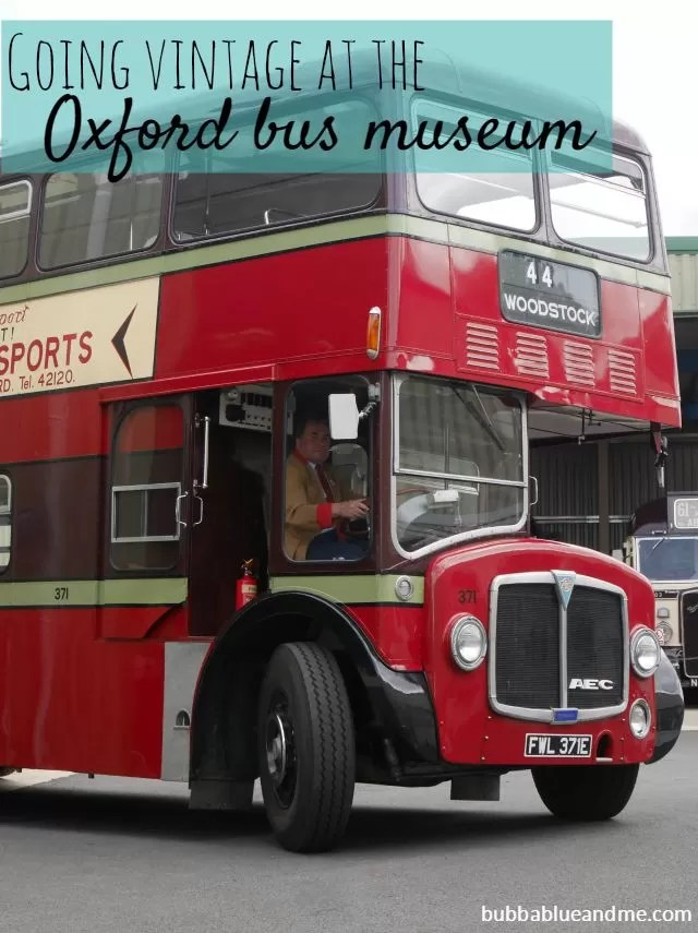 Going vintage at the Oxford bus museum - Bubbablue and me