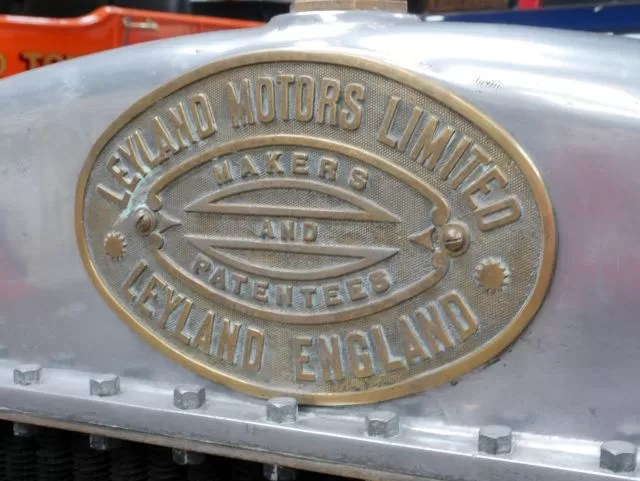 Leyland Motors bus sign