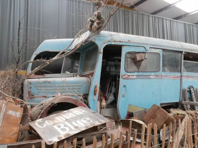 vintage bus wreck