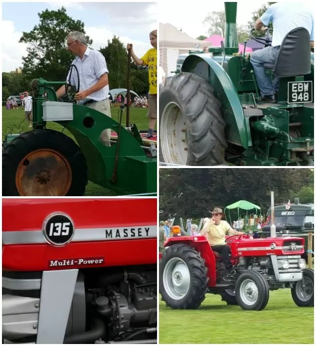 vintage tractors at Brailes show