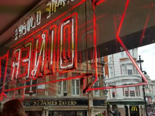 Jamie Oliver's Diner sign