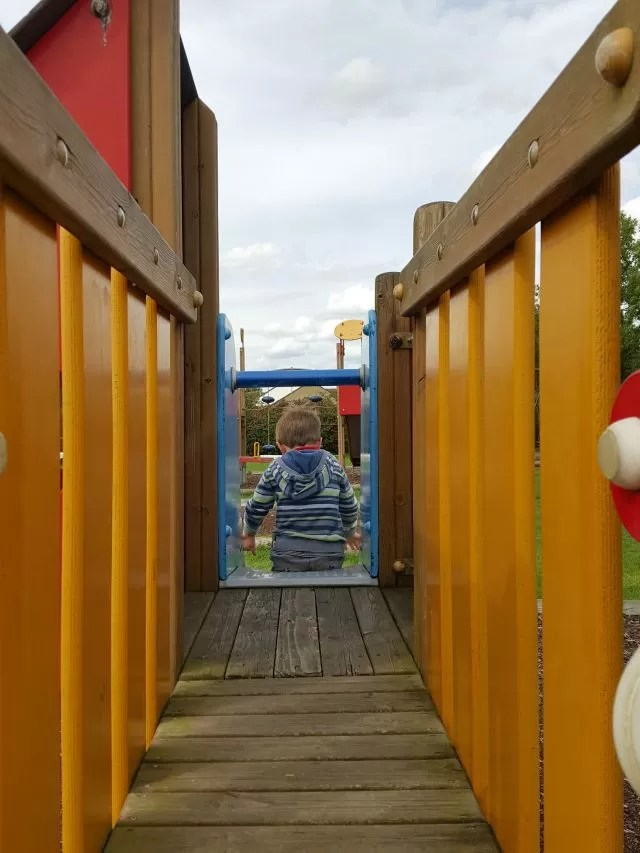 down the climbing frame