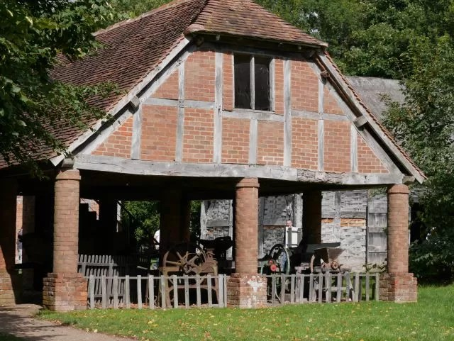 threshing barn at Avoncroft museum
