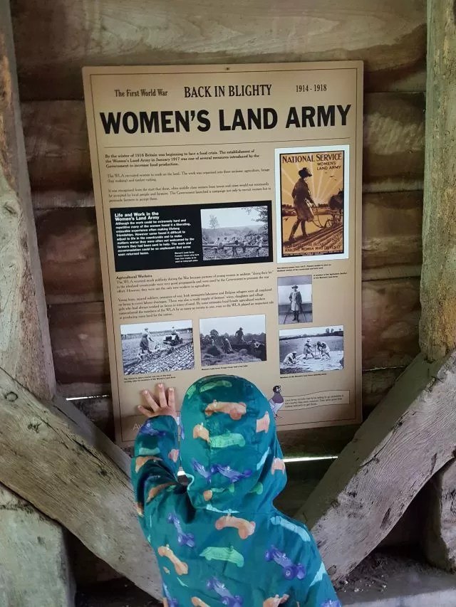 womens land army display at Avoncroft Museum