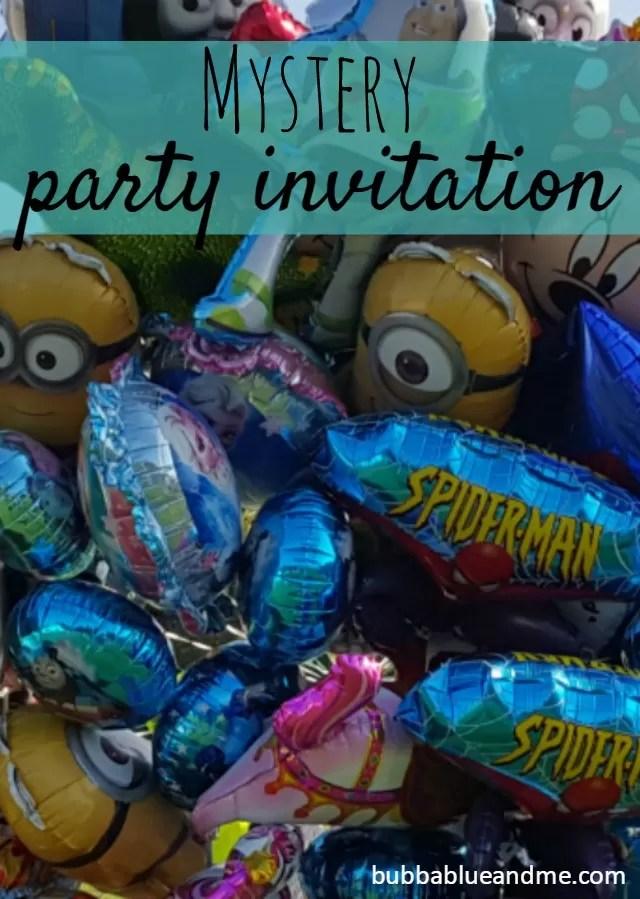 Mystery Party invitation - Bubbablueandme