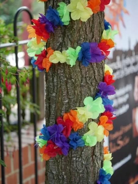 rainbow tree decoration