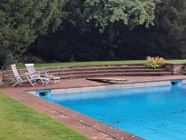 swimming pool at Upton House