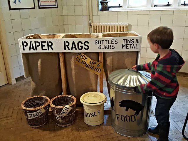 war time recycling at Upton House