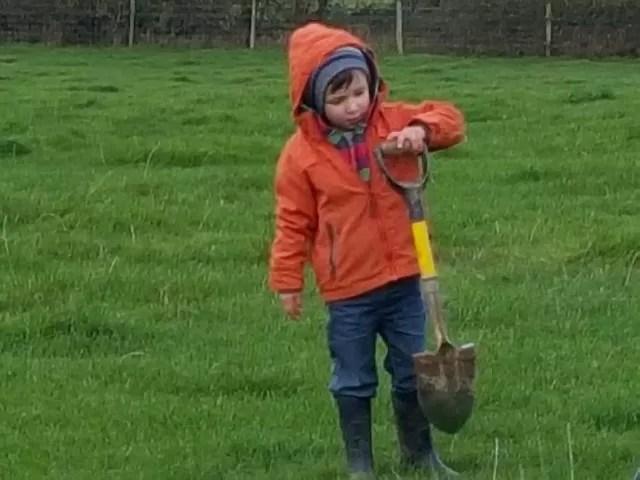 digging for metal detecting
