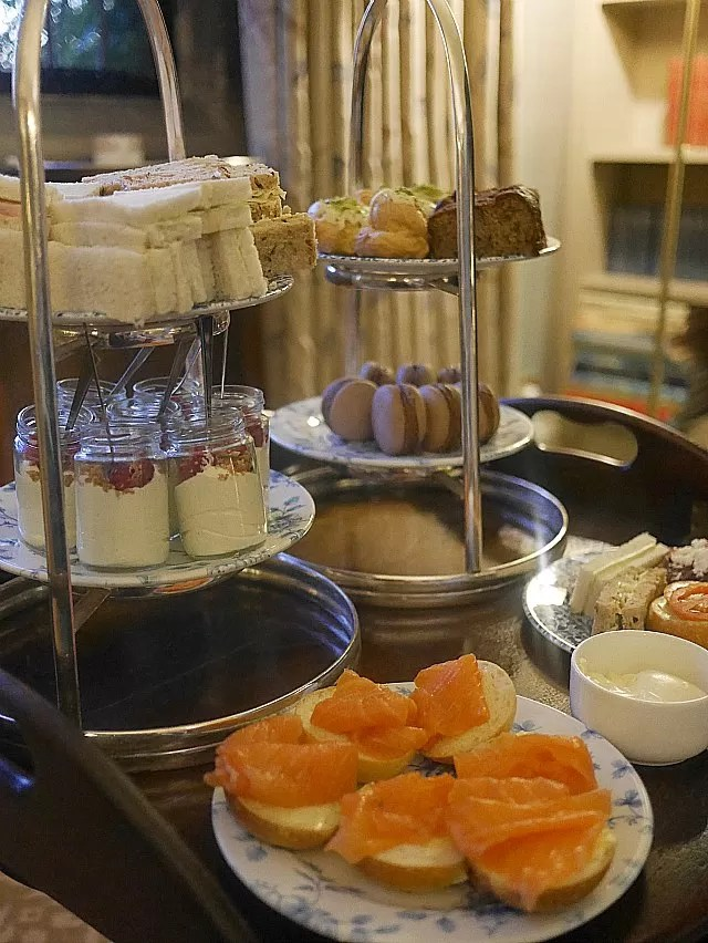 afternoon tea at mallory court food